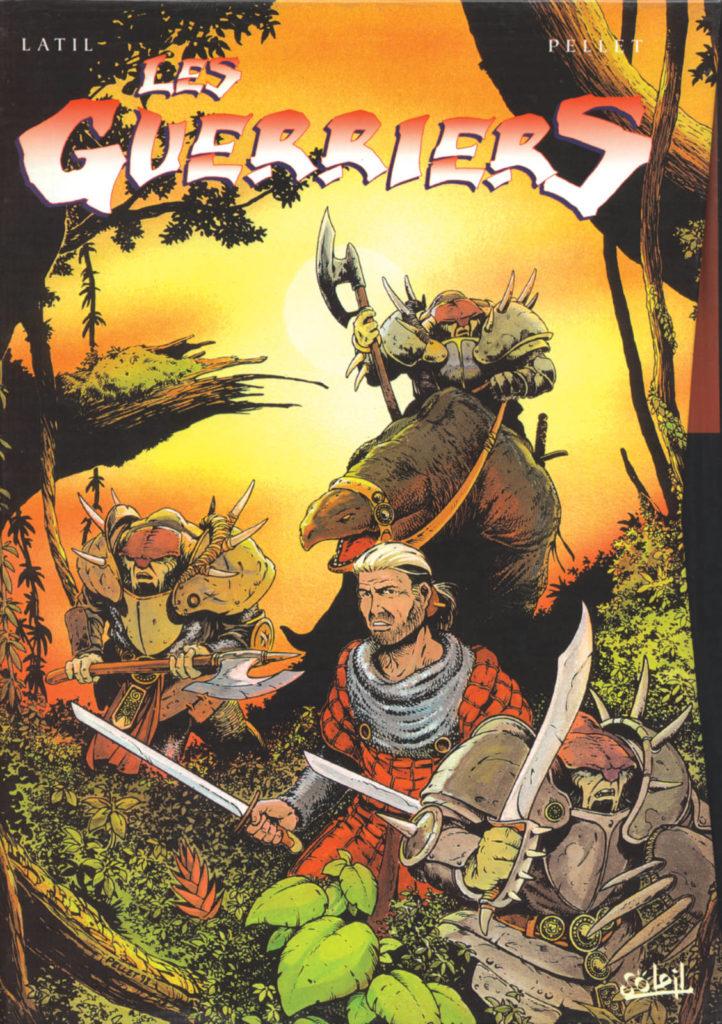Couverture du coffret des tomes 1 à 4 de la série Les Guerriers