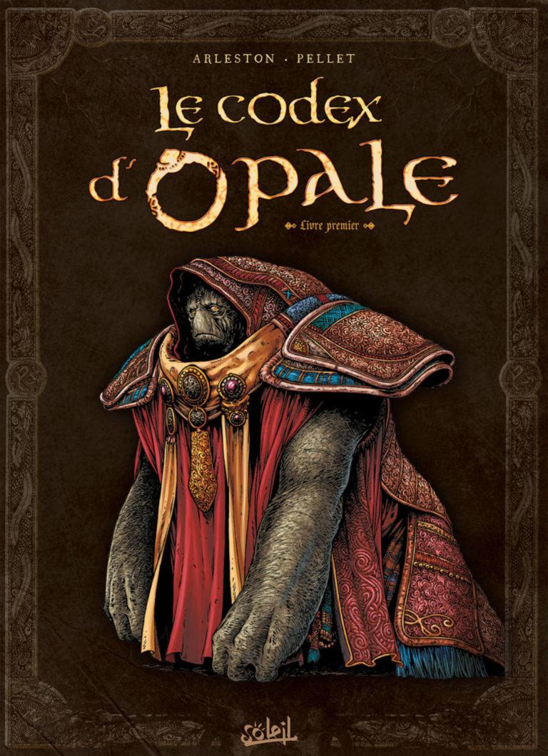 Couverture du Codex d'Opale, livre premier, artbook dérivé de la série Les Forêts d'Opale