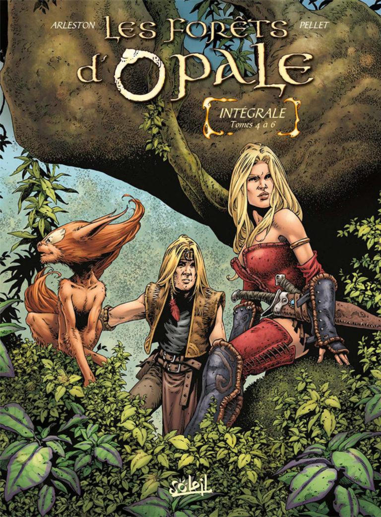 Couverture de l'intégrale des tomes 4 à 6 de la série Les Forêts d'Opale