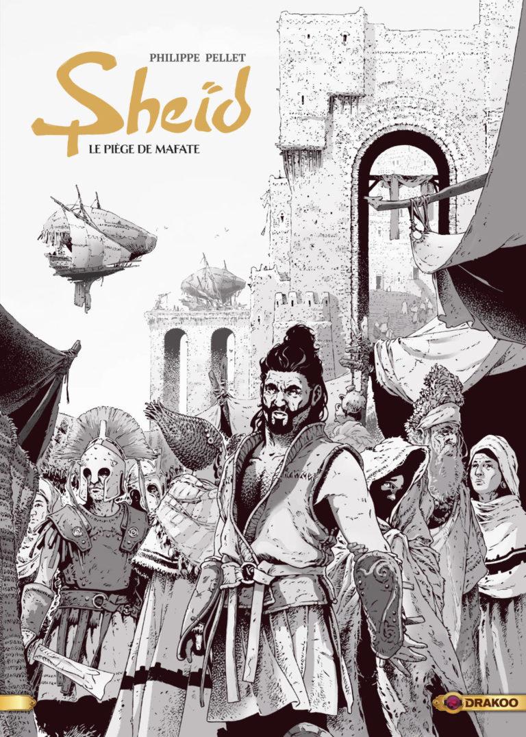 Couverture de l'édition luxe en noir & blanc de l'album Le piège de Mafate, tome 1 de la série Sheïd